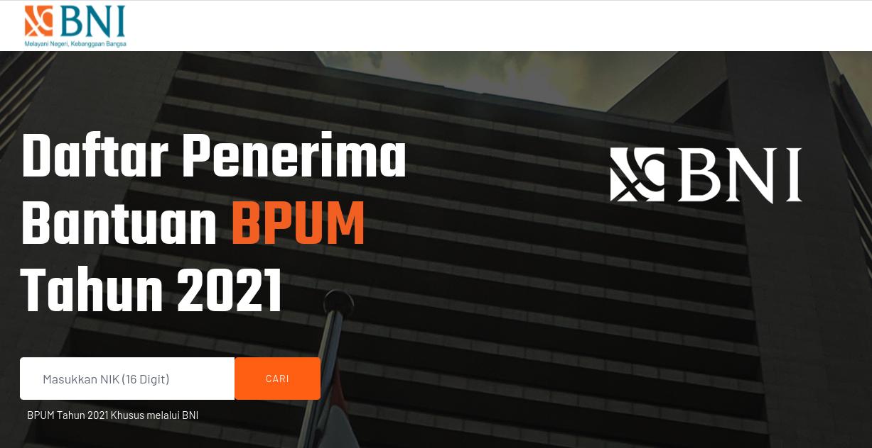 cek blt umkm bpum BNI 2021