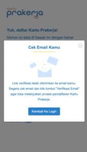 2 cek email yang didaftarkan prakerja gelombang 17