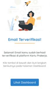 4. email terverifikasi sebagai pendaftar kartu prakerja gelombang 17