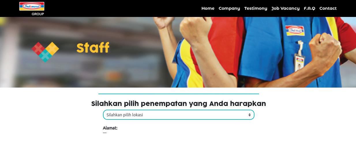 daftar lowongan kerja indomaret terbaru 2021 seluruh indonesia daftar online
