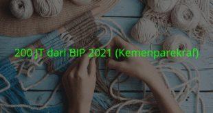 bantuan modal usaha pariwisata dan ekonomi kreatif 200 jt 2021