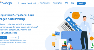 halaman pendaftaran program kartu prakerja gel 17 2021