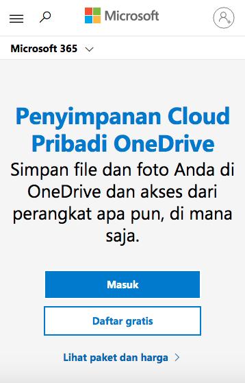 onedrive cloud storage terbaik 2021
