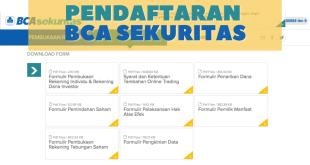 Pendaftaran BCA Sekuritas