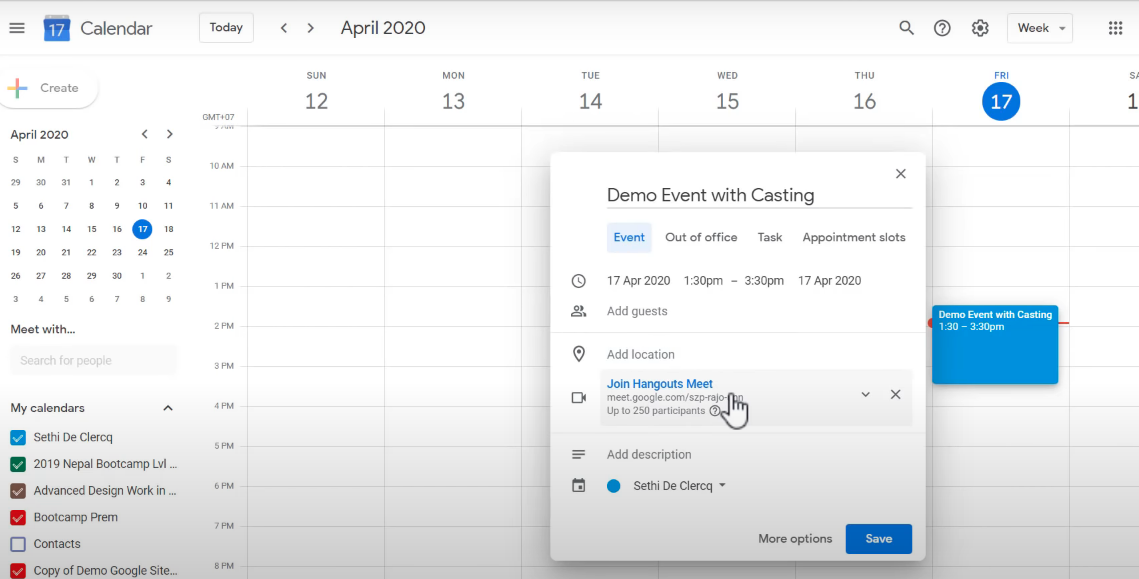 tentukan jadwal rapat di google meet video audio