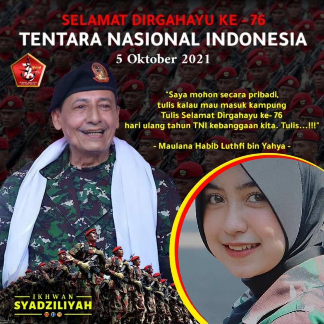 1. Twibbon Dirgahayu TNI ke-76 karya Ikhwan Syadziliyah