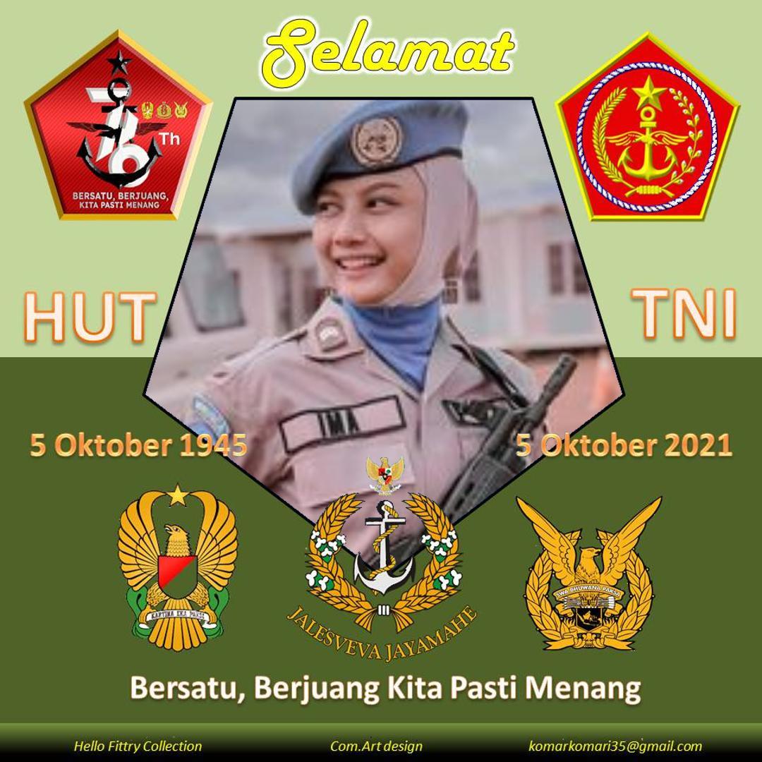 4. Twibbon HUT TNI TAHUN 2021 karya KOMARI