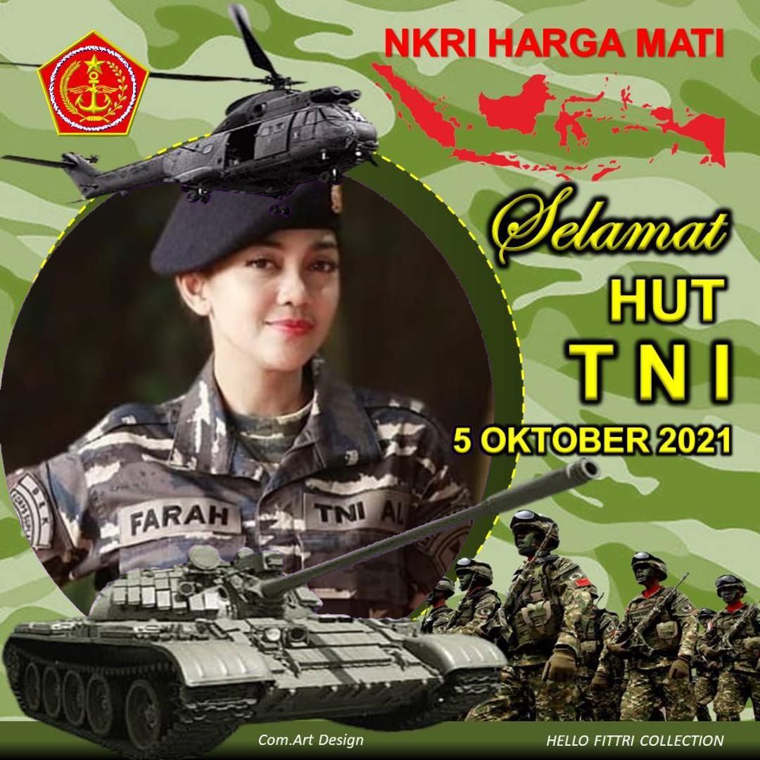 6. Twibbon HUT TNI Tahun 2021 Karya KOMRI