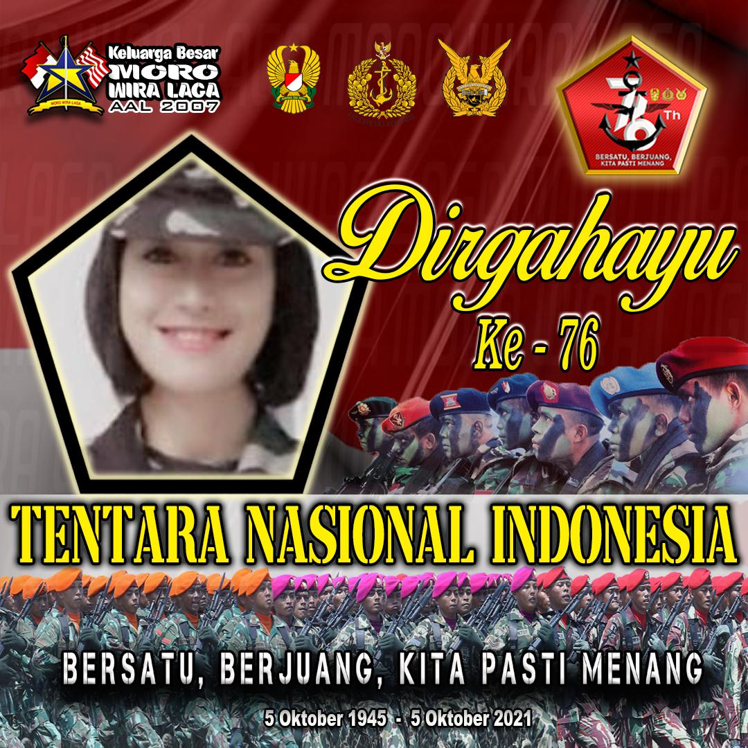 8. Twibbon HUT TNI KE 76, MORO WIRALAGA karya Brama Setya