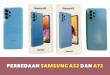 Perbedaan Samsung A32 dan A72