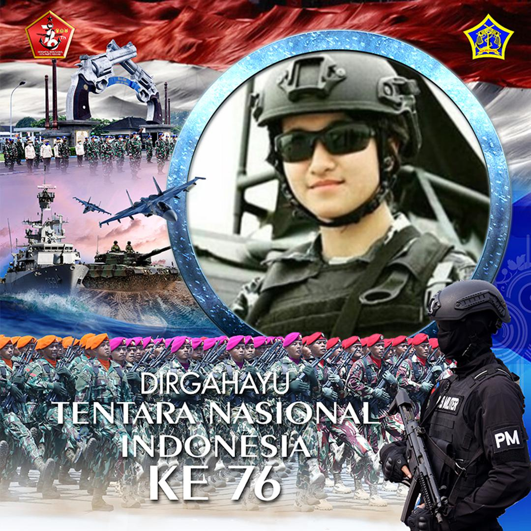 twibbon HUT TNI ke 76 Pispomal karya Puspomal Official